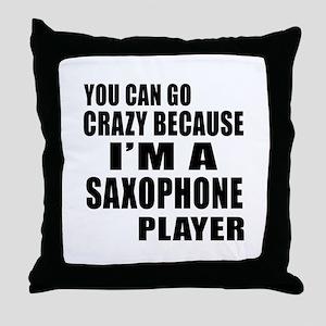 I Am saxophone Player Throw Pillow