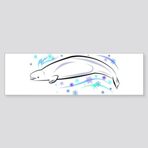Winter Beluga Bumper Sticker