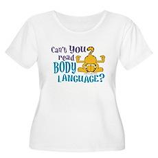 Body Language Garfield Women's Plus Size Scoop Nec
