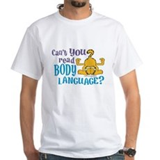 Body Language Garfield White T-Shirt