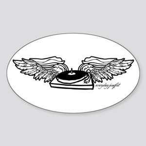 Flying Turntable Oval Sticker