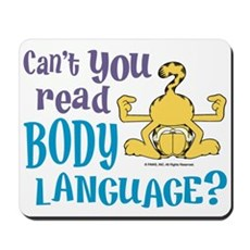 Body Language Garfield Mousepad