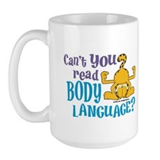 Body Language Garfield Large Mug