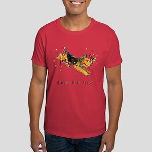 Welsh Terrier Holiday Dog! Dark T-Shirt