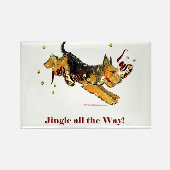 Welsh Terrier Holiday Dog! Rectangle Magnet