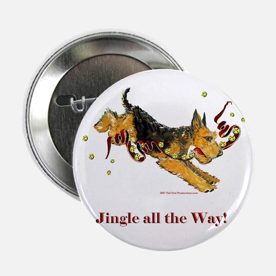 "Welsh Terrier Holiday Dog! 2.25"" Button"