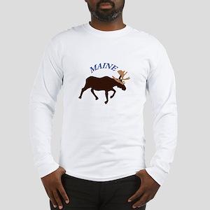 Maine Moose Long Sleeve T-Shirt