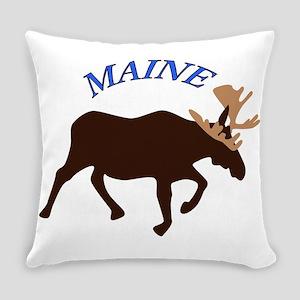 Maine Moose Everyday Pillow