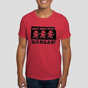 Don't Mess With Kansas Dark T-Shirt