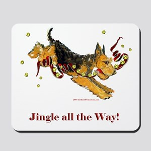 Welsh Terrier Holiday Dog! Mousepad