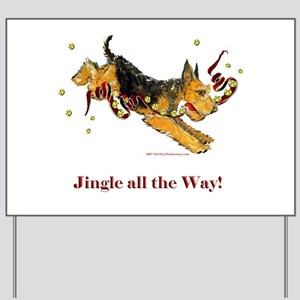 Welsh Terrier Holiday Dog! Yard Sign