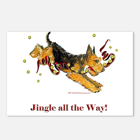 Welsh Terrier Holiday Dog! Postcards (Package of 8