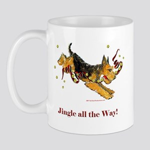 Welsh Terrier Holiday Dog! Mug
