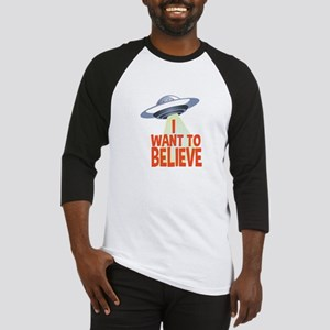 Want To Believe Baseball Jersey