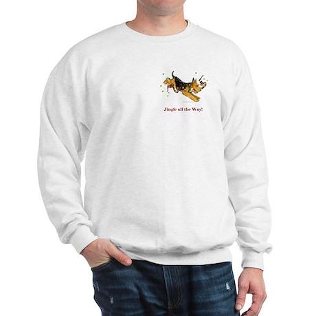 Welsh Terrier Holiday Dog! Sweatshirt