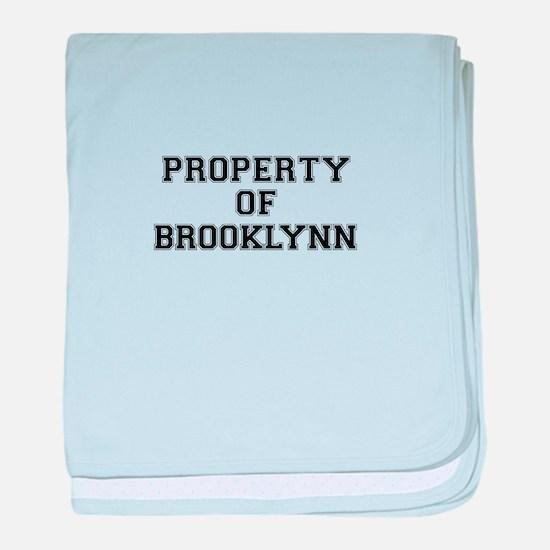Property of BROOKLYNN baby blanket