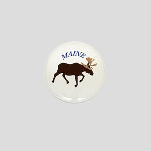 Maine Moose Mini Button