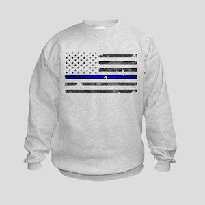 Blue Lives Matter Kids Sweatshirt