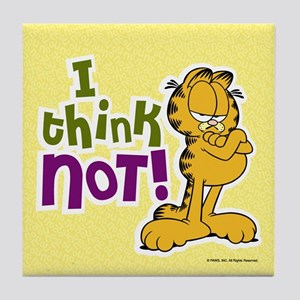 I think NOT! Garfield Tile Coaster