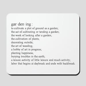 Gardening defination Mousepad
