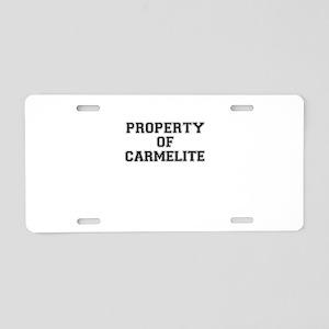 Property of CARMELITE Aluminum License Plate