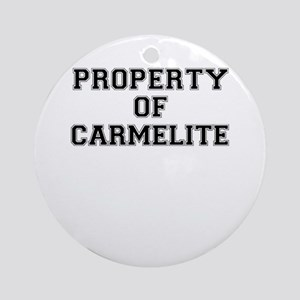 Property of CARMELITE Round Ornament