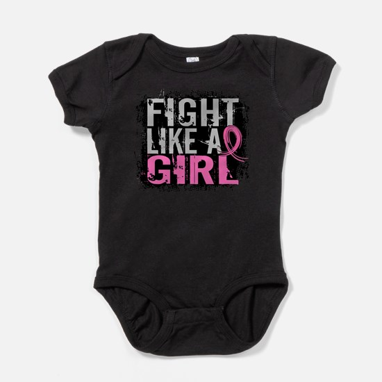 Funny Breast cancer fight like a girl stylish Baby Bodysuit