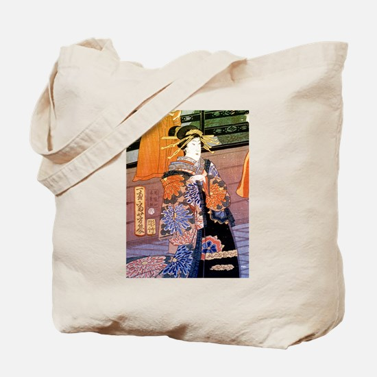 Japanese Noble Woman Tote Bag