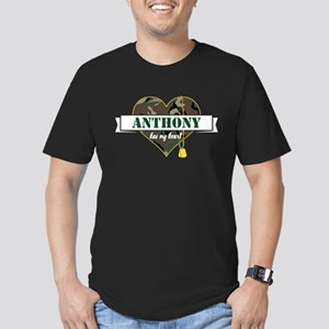 Army Personalized Hear Men's Fitted T-Shirt (dark)
