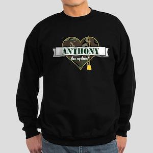 Army Personalized Heart Sweatshirt (dark)