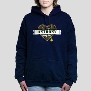 Army Personalized Heart Women's Hooded Sweatshirt