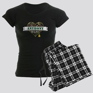 Army Personalized Heart Women's Dark Pajamas