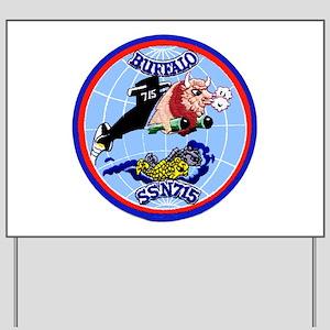USS Buffalo SSN 715 Yard Sign