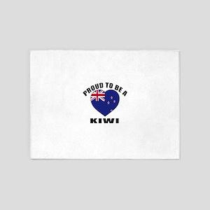 Kiwi Patriotic Designs 5'x7'Area Rug