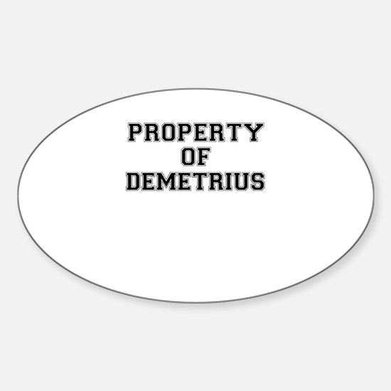 Property of DEMETRIUS Decal
