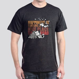 Peanuts Happiness Thanksgiving Dinner Dark T-Shirt