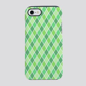 Green Harlequin Pattern iPhone 8/7 Tough Case