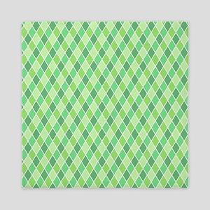 Green Harlequin Pattern Queen Duvet