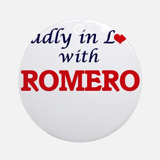 Madly in love with Romero Round Ornament
