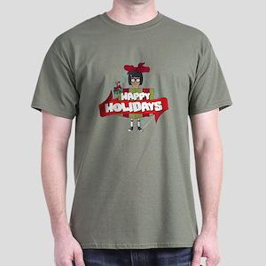 Bob's Burgers Tina Holiday Dark T-Shirt