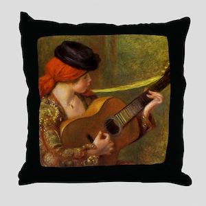 Renoir Spanish Woman with Guitar Throw Pillow