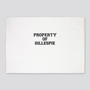 Property of GILLESPIE 5'x7'Area Rug
