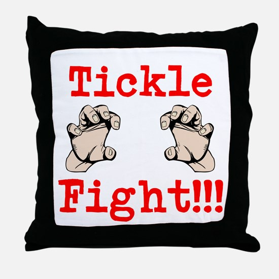 tickle fight Throw Pillow