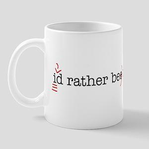 I'd rather be copy-editing. Mug