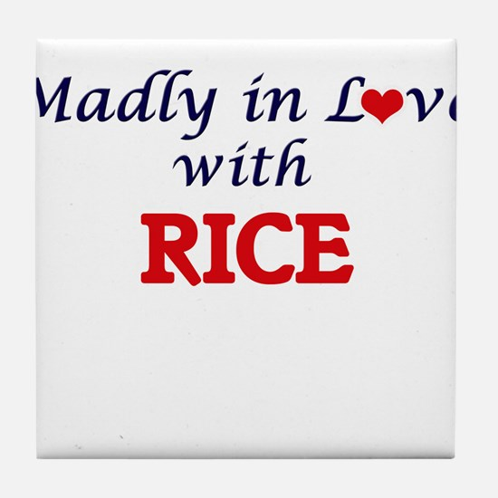 Madly in love with Rice Tile Coaster