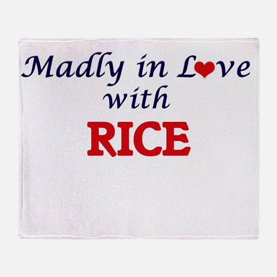 Madly in love with Rice Throw Blanket