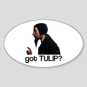 got TULIP? Oval Sticker