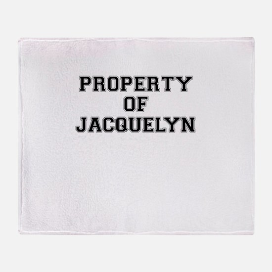 Property of JACQUELYN Throw Blanket