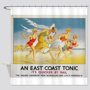 East Coast Tonic, England; Vintage Shower Curtain