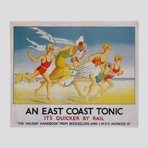East Coast Tonic, England; Vintage T Throw Blanket